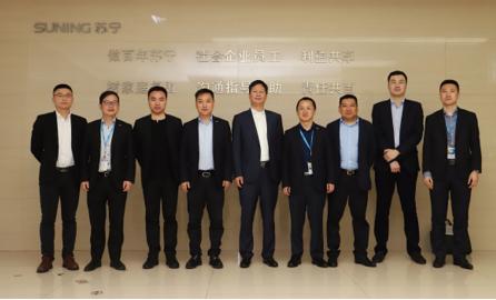 海信高层造访苏宁上海总部 加速百亿级目标落地