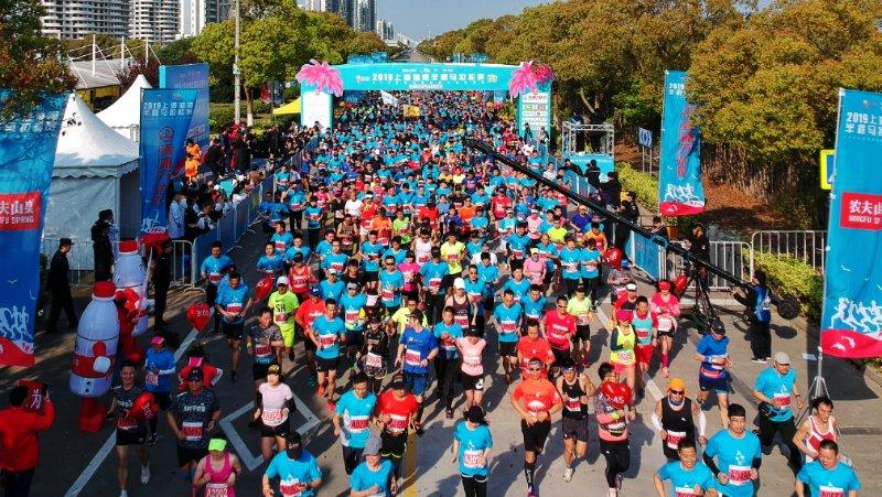 2019上海海湾半程马拉松赛精彩开跑