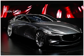 """马自达携""""Mazda VISION COUPE""""概念车与""""创驰蓝天-X发动机""""亮相上海国际车展"""
