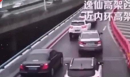 上海高架路上这段视频火了!内容极度舒适!
