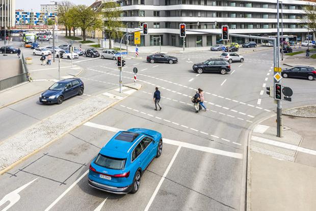 奥迪接入欧洲交通信号灯网络