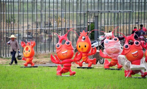 龙虾广场公园亮相宣城