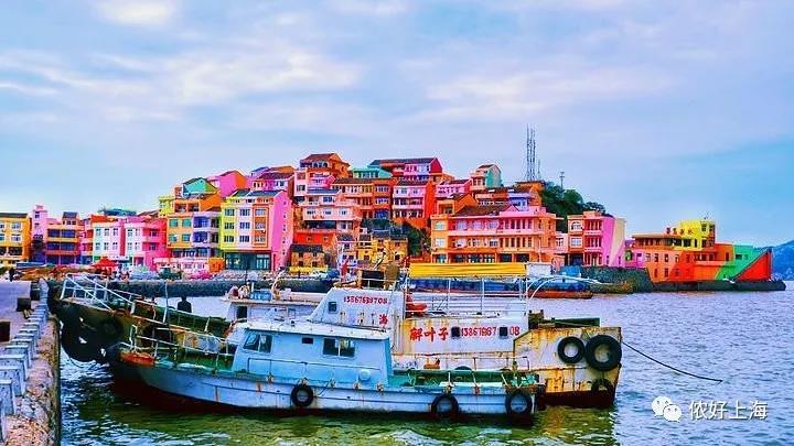 浙江藏着一个马卡龙色海岛渔村,离上海高铁才3小时!