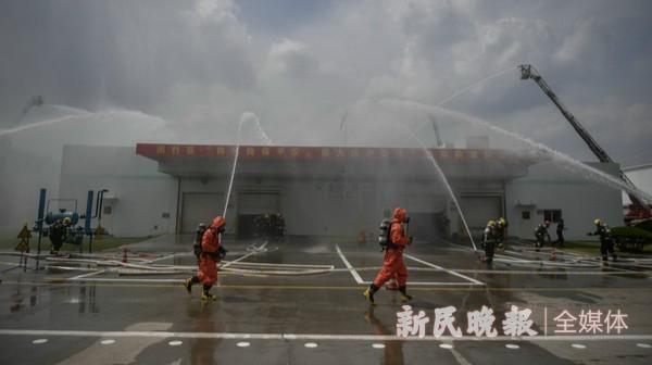闵行区消防救援综合演练举行