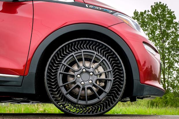 通用汽车与米其林联合推出乘用车免充气轮胎技术