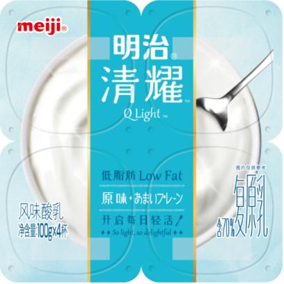 """""""明治清耀低脂肪酸奶""""系列新品上市"""