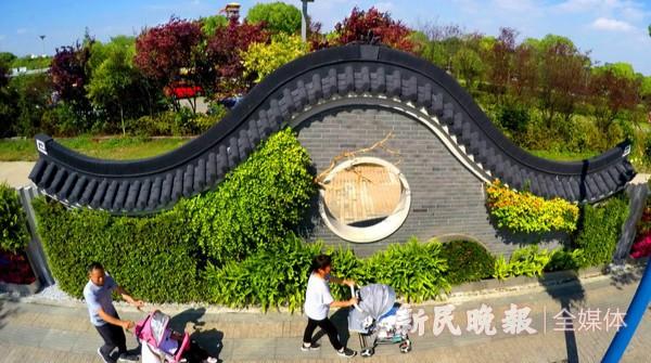 古典园林围墙扮靓闵行街区