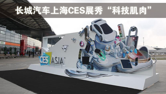 """长城汽车2019上海CES展秀""""科技肌肉"""""""