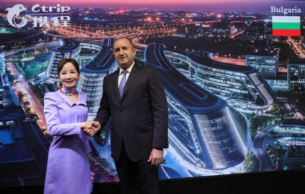 保加利亚总统到访携程 孙洁建言签证便利化