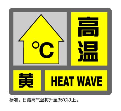 上海连续第6天发布高温黄色预警,气温已达34.8度