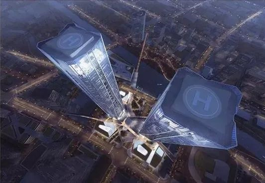 厉害了!上海又一座320米双子塔年内开工!