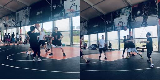 宁波银行上海卢湾支行与中建材开展篮球友谊对抗赛