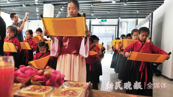 萌娃体验中秋传统习俗