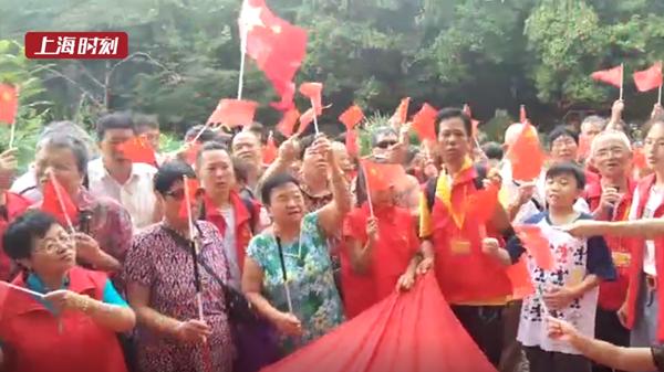 视频 | 歌唱祖国 复兴公园的这场快闪由视障者和志愿者共同完成