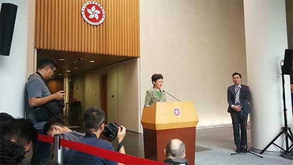 林郑月娥:望首场社区对话和平理性冷静