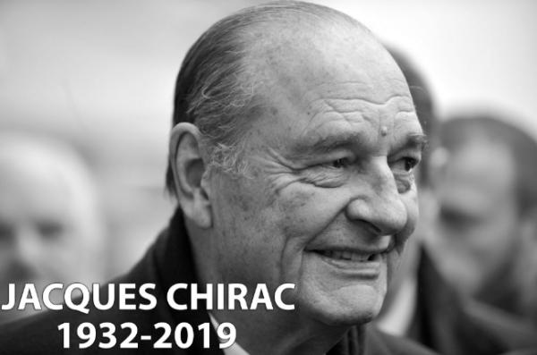 外媒:法国前总统希拉克博古应用过世,享年86岁