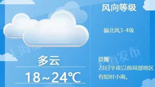 冷空气又要来了!后天夜里抵沪,周日最低温仅15度