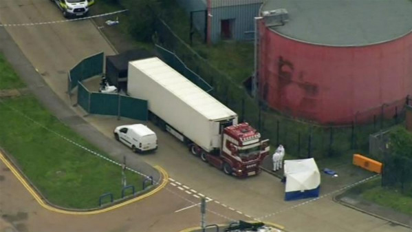 英国警方确认货车内39名遇难者均为中国人 时隔15年或再现华人群体性遇难惨剧