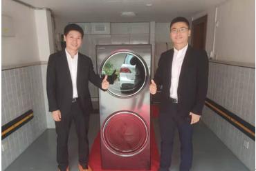 苏宁渠道上海首台卡萨帝融合纤洗护理机成功售出 10万元卡萨帝融合纤洗护理机 苏宁渠道上海首单在闵行第一店售出