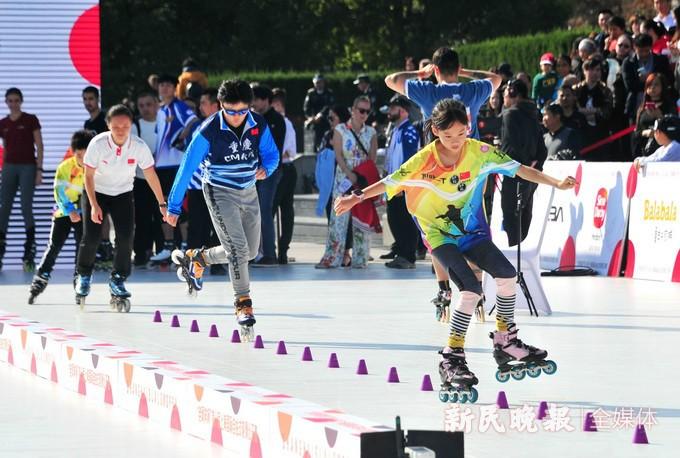 世界各国轮滑高手汇聚浦江 2019第十届上海国际自由式轮滑公开赛开幕