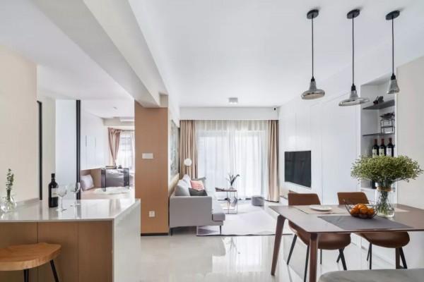 76㎡简约北欧2室2厅,打造清新明朗的生活感