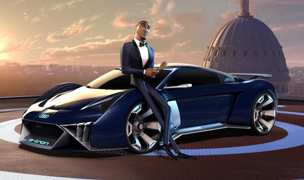 奥迪虚拟纯电动概念车首次亮相好莱坞电影《变身特工》