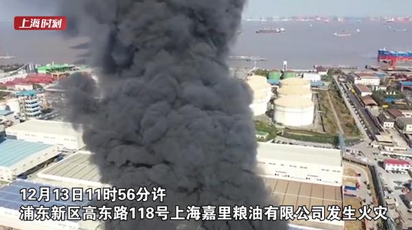 视频 | 上海外高桥一公司发生火情 现场浓烟滚滚