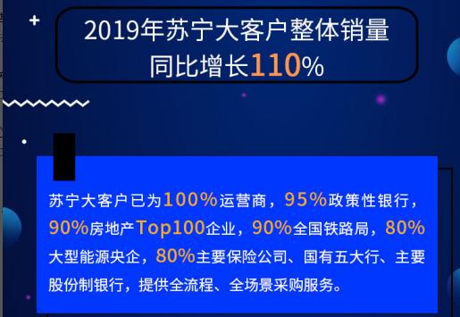2019政企采购年终盘点  苏宁双线模式加持整体销量同比增长110%