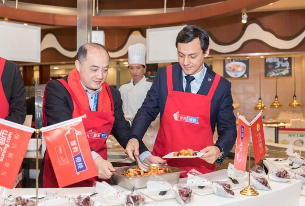 与智利水果出口商协会共进车厘子大餐,苏宁年货节打造更鲜年味