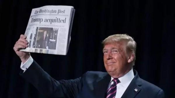 逃过弹劾后,特朗普到底说了啥,让记者捂上了耳朵