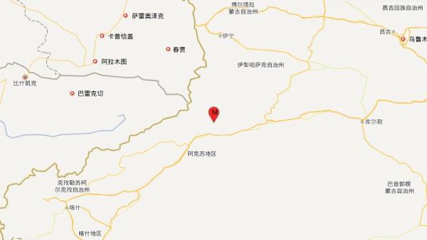 新疆阿克苏地区拜城县发生4.6级地震,震源深度19千米