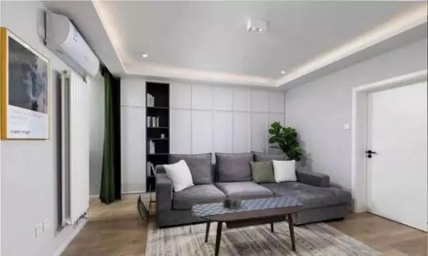 76平的简约风小户型二居室,把餐厨放在一起更加宽敞