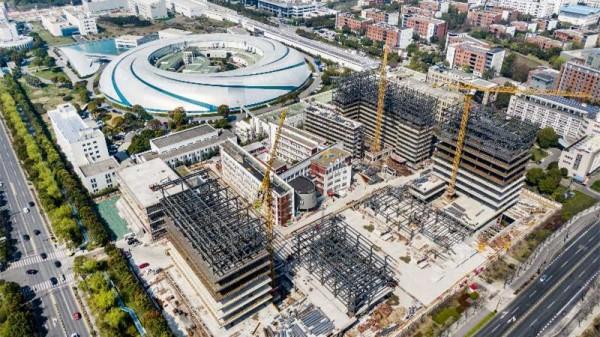 视频   张江科学城建设持续推进 这些建筑工地正在抓紧施工中