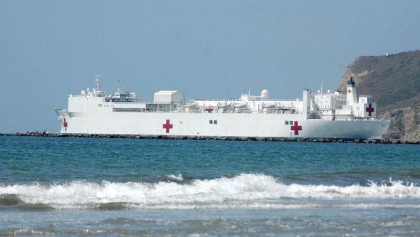 """应对疫情,美军医院船终于亮相!传说中的""""海上方舱""""真有那么牛?"""