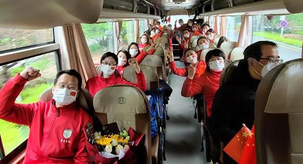 凯旋!除夕夜出征的上海首批医疗队回来啦!