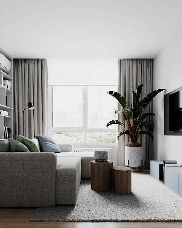 85㎡三居室,非凡的空间气质!