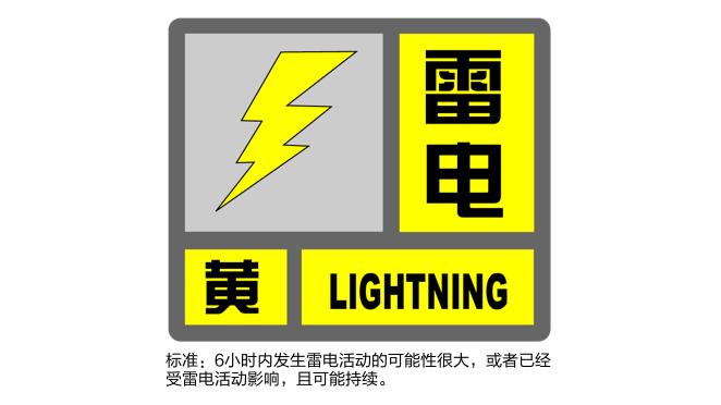 上海刚刚发布雷电黄色预警!可能伴有短时强降水及大风