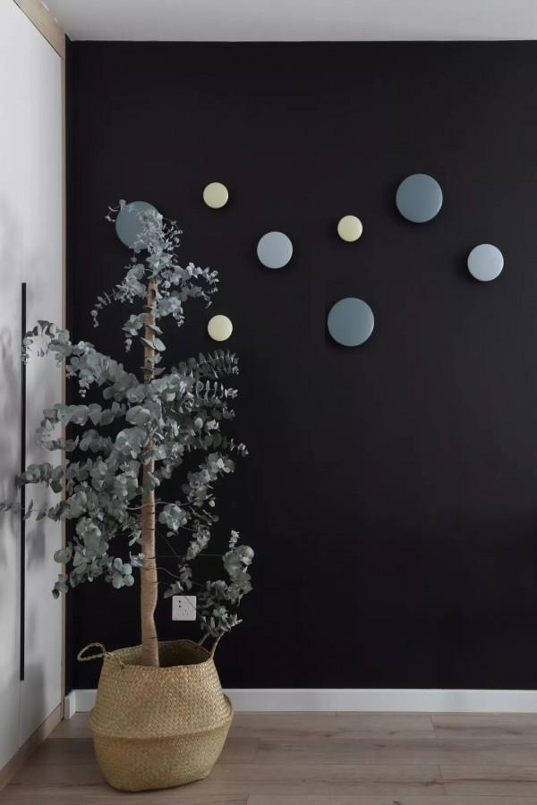 110平的北欧风三居室,灰色加上粉色也太浪漫了