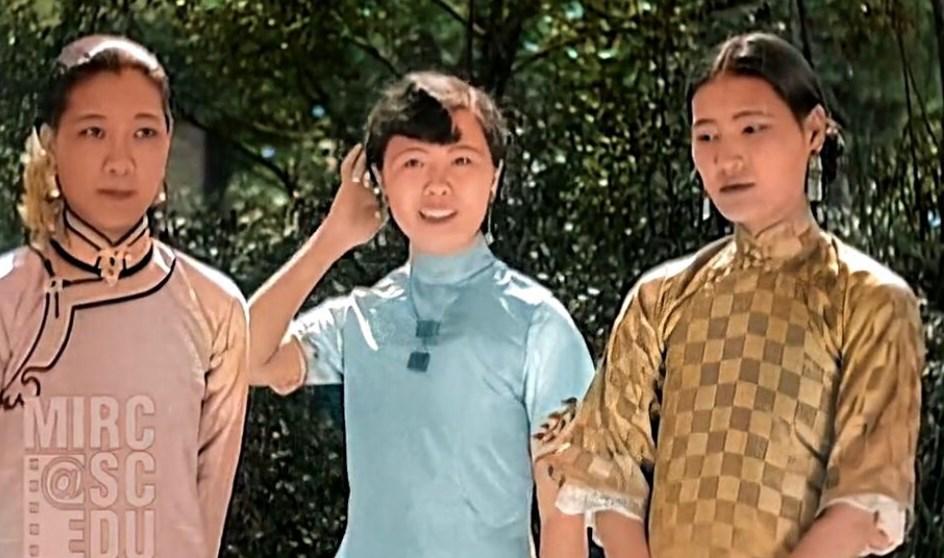 太神奇啦!百年前的上海时装秀有了彩色版,保留时代原声!
