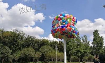 """魔都惊现飞屋环游记""""气球树""""!上海市区公园大变样了,都是本地人的最爱!很多人还不知道..."""