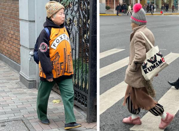 惊到我了!街拍上海爷叔阿姨,原来他们才是时尚之王