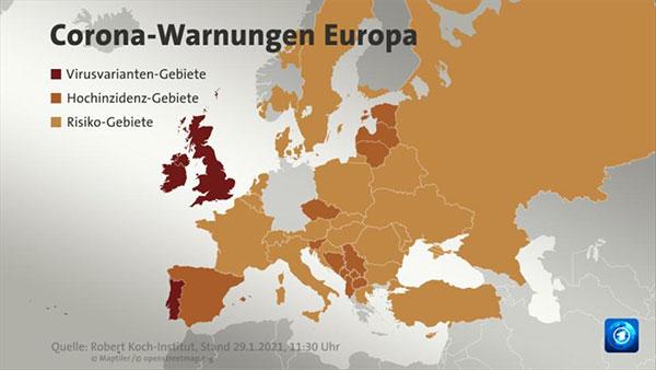 德国收紧入境限制 对7个国家实施禁令