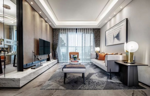 朋友家的106平三居室,软硬装的设计都很漂亮