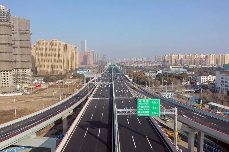 激动!济阳路高架今天通车啦!卢浦大桥→浦江镇仅8分钟!一路没有红绿灯!
