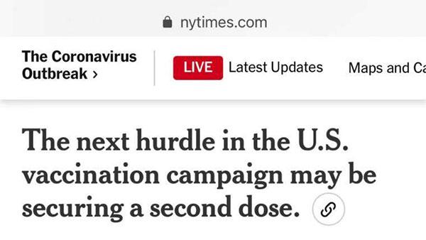 美国新冠疫苗接种乱象:打完第一针,第二针约不上了