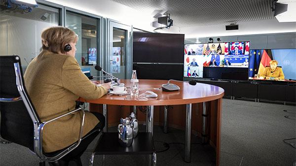 德国总理默克尔:七国集团希望加强与中国的合作