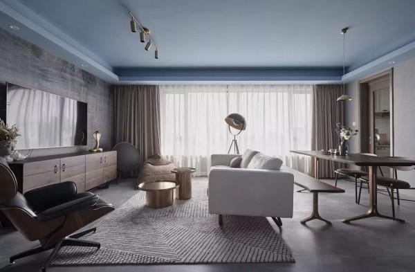 108平的现代风三房,整屋设计好独特,邻居都夸好看