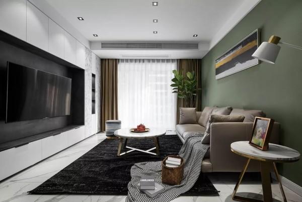 125平的现代风三房,有着梦幻感的背景墙,好让人喜欢