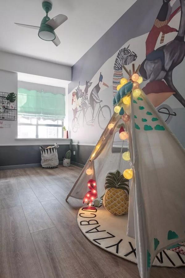 114平的小清新北欧风三居室,文艺范满满,太舒适了