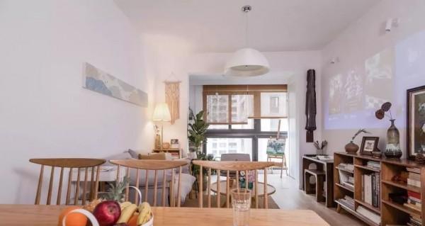 113平的北欧风三房,木与白的结合,轻松自在的小窝